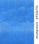 texture of artificial blue leather - stock photo
