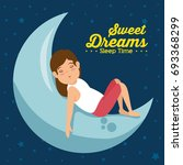 sweet dreams sleeping time icon | Shutterstock .eps vector #693368299