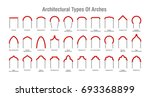 architectural type of arches... | Shutterstock .eps vector #693368899