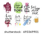 alcohol inspirational quotes ... | Shutterstock .eps vector #693369901