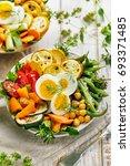 Vegetarian Salad With Green...