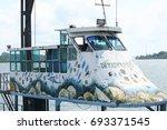 krabi  thailand   march 11 2014 ...   Shutterstock . vector #693371545
