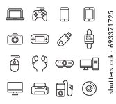 gadget and device icons | Shutterstock .eps vector #693371725