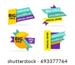 colorful shopping sale banner... | Shutterstock .eps vector #693377764