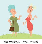 vector cartoon image of a funny ... | Shutterstock .eps vector #693379135