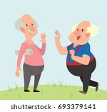 vector cartoon image of a funny ... | Shutterstock .eps vector #693379141