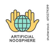 icon artificial noosphere. the... | Shutterstock .eps vector #693379399