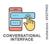 icon conversational interface.... | Shutterstock .eps vector #693379405