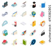 knowledge icons set. isometric... | Shutterstock .eps vector #693382801