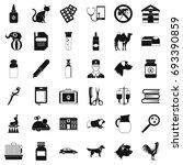 vet doctor icons set. simple... | Shutterstock .eps vector #693390859