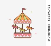 carousel attraction symbol... | Shutterstock .eps vector #693391411
