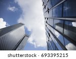 glass skyscrapers  business... | Shutterstock . vector #693395215
