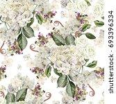 bright watercolor seamless... | Shutterstock . vector #693396334