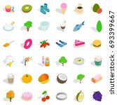 healthy food icons set....