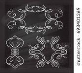 vector calligraphic design... | Shutterstock .eps vector #693401269