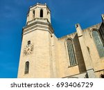 the cathedral in girona  ... | Shutterstock . vector #693406729