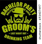 bachelor party grooms drinking... | Shutterstock .eps vector #693407497