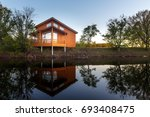 contemporary wooden single... | Shutterstock . vector #693408475