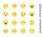 set emoticons icons for... | Shutterstock . vector #693410281