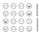 set emoticons icons for... | Shutterstock . vector #693410467