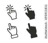 touch vector icons set. black... | Shutterstock .eps vector #693411811
