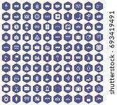 100 railway icons set in purple ...   Shutterstock .eps vector #693419491