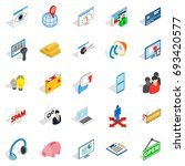 it technology icons set.... | Shutterstock .eps vector #693420577