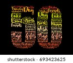 happy 50th birthday word cloud... | Shutterstock .eps vector #693423625