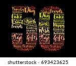 happy 50th birthday word cloud... | Shutterstock .eps vector #693423625