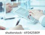 successful businessman uses... | Shutterstock . vector #693425809