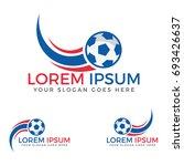 football sport logo. | Shutterstock .eps vector #693426637