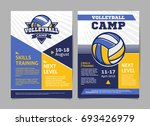 volleyball camp posters  flyer... | Shutterstock .eps vector #693426979