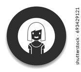 avatar girl icon | Shutterstock .eps vector #693429121