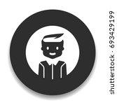 avatar boy icon | Shutterstock .eps vector #693429199