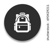 backpack icon   Shutterstock .eps vector #693429211