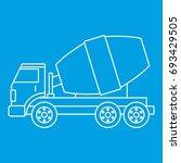 truck concrete mixer icon blue... | Shutterstock .eps vector #693429505