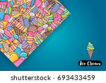 Ice Cream Cartoon Doodle Desig...