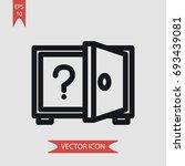 safebox vector icon ...