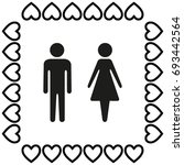 man and woman vector... | Shutterstock .eps vector #693442564
