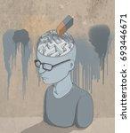 illustration of parkinson's or... | Shutterstock . vector #693446671