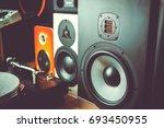 high quality loudspeakers.hifi...   Shutterstock . vector #693450955