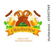 oktoberfest vector background...   Shutterstock .eps vector #693457969