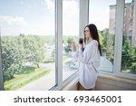 portrait of a lovely girl in... | Shutterstock . vector #693465001