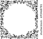 white page with music note... | Shutterstock . vector #693468781