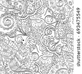 tracery seamless pattern.... | Shutterstock .eps vector #693475549