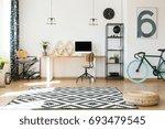 empty office with big window... | Shutterstock . vector #693479545