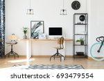 minimalistic office design for... | Shutterstock . vector #693479554