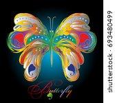 colorful decorative vintage... | Shutterstock .eps vector #693480499