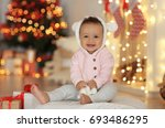 cute little baby with toy...   Shutterstock . vector #693486295