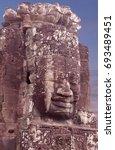 ancient bas relief of prasat...   Shutterstock . vector #693489451